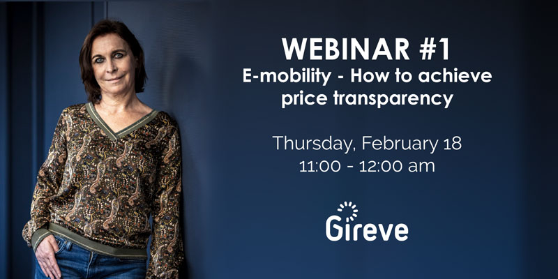 GIREVE is organising its first webinar on price transparency of roaming charging sessions